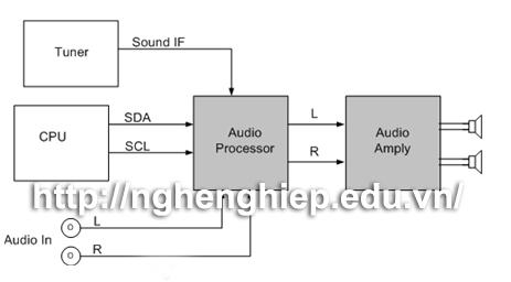 Hình ảnh Khối đường tiếng của tivi LCD