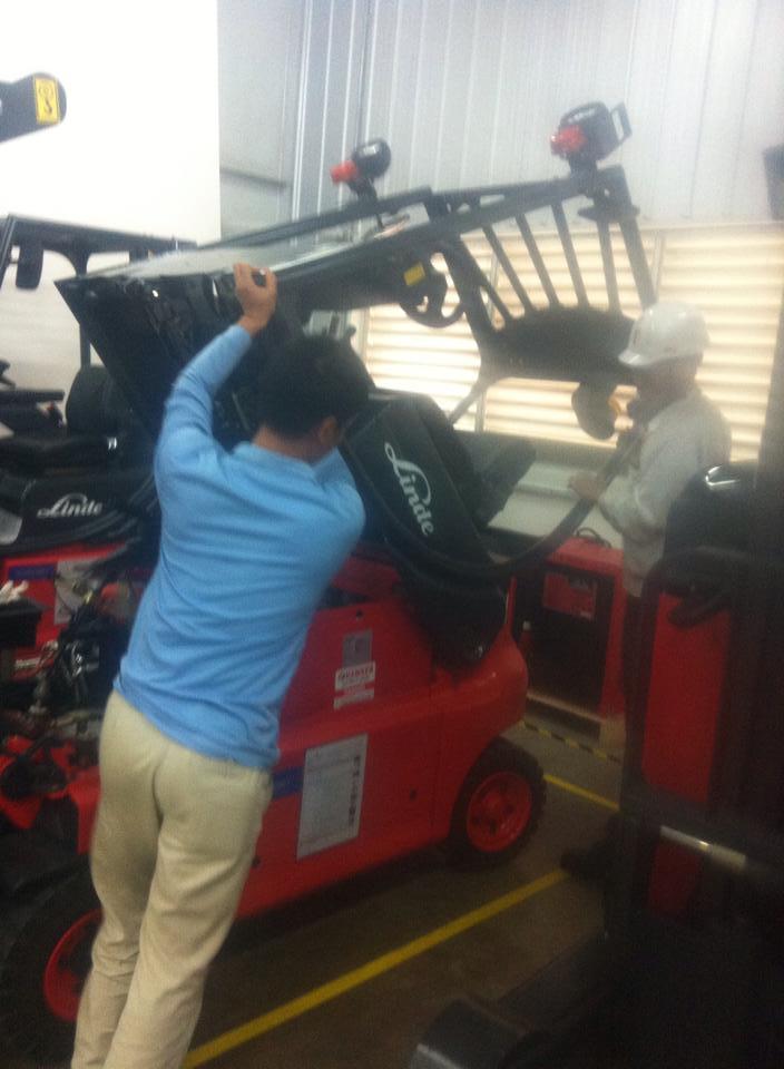 Ảnh: Đào tạo nghề lái xe nâng hàng 2